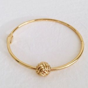 Kate Spade Gold Knotted Rope Ball Bangle Bracelet